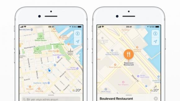 Apple Harita uygulamasında komik hata!