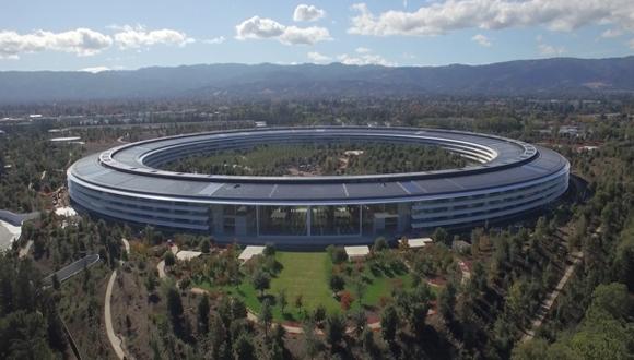 Apple Park'ın son hali drone ile görüntülendi!