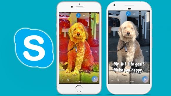 Skype da Snapchat'e özendi!