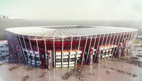 Sökülebilir ilk futbol stadı!
