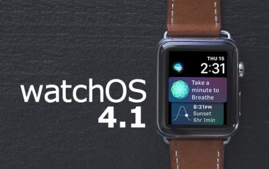 watchOS 4.1 yayınlandı!