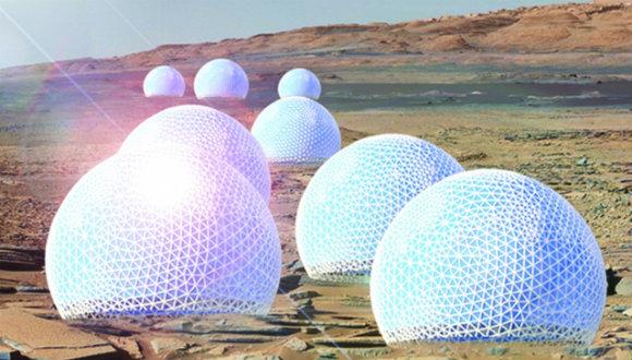 Mars kolonicileri için şehir tasarımı!