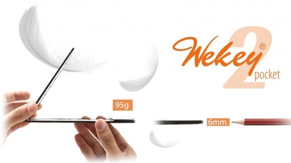 Görebileceğiniz en ince klavye: Wekey Pocket 2