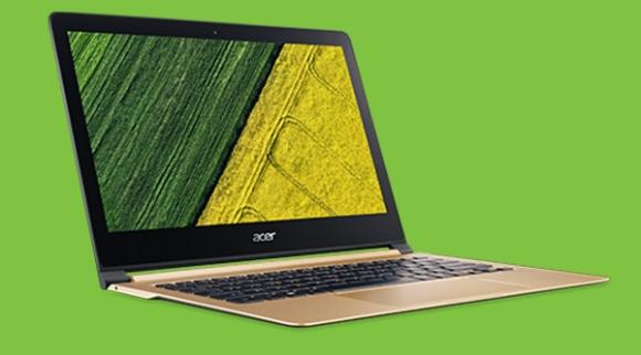 Acer dünyanın en ince dizüstü bilgisayarını duyurdu!