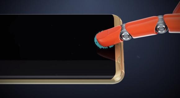 Ekrandan parmak izi okuyan ilginç telefon!