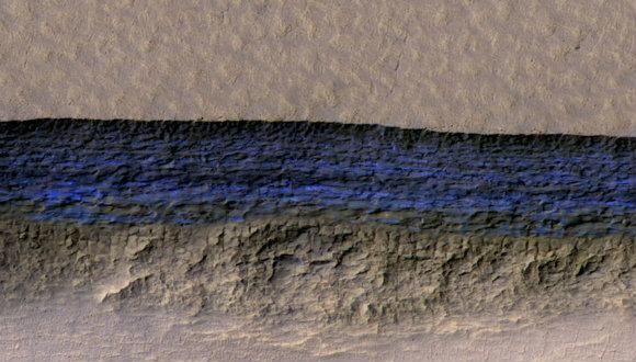 Mars'ta buz tabakası olabilir!