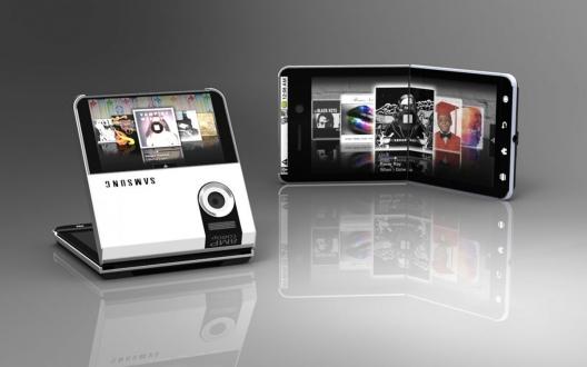 Samsung'un yeni katlanabilir telefon tasarımı!