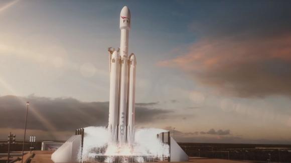 SpaceX, Falcon Heavy fırlatması için video paylaştı!