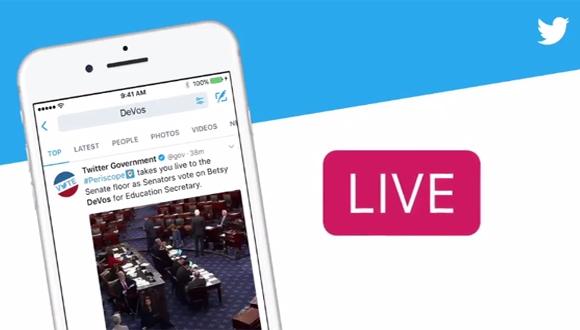 Twitter kritik olayları canlı yayınlar ile destekleyecek!