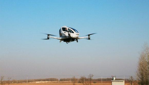 Uçan taksi ile insanlı uçuş testi yapıldı!