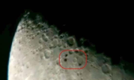 Ay'da UFO benzeri 3 cisim görüntülendi