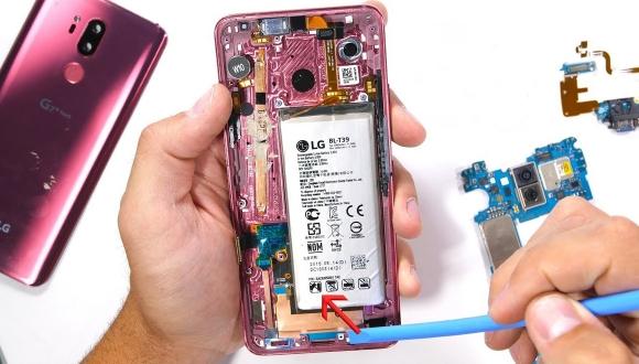 LG G7 ThinQ parçalarına ayrıldı!