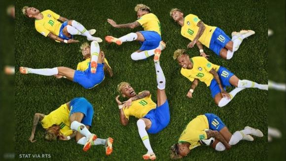 Neymar çaldığı 14 dakikayla sosyal medyada!