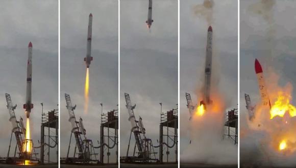 Roket alevler içinde kaldı!