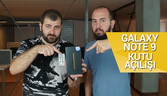 Samsung Galaxy Note 9 kutusundan çıkıyor!