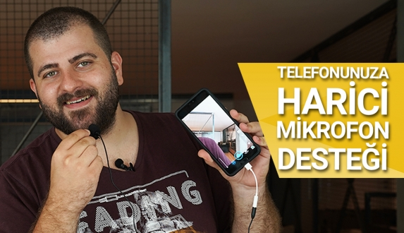 Telefona harici mikrofon desteği – Video