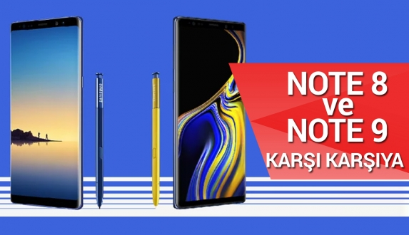 Galaxy Note 9 vs Galaxy Note 8 karşılaştırma! Video