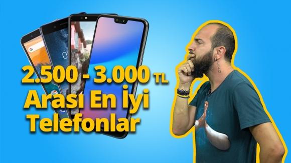 2500 – 3000 TL arası en iyi akıllı telefonlar