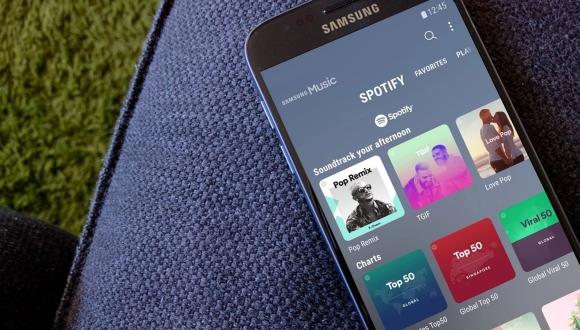 Samsung Müzik uygulaması yenilendi! Spotify sürprizi!
