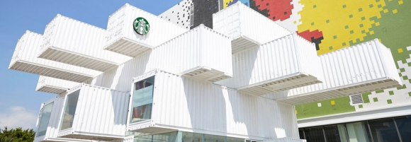 Tayvan'da konteynerlerden Starbucks yapıldı