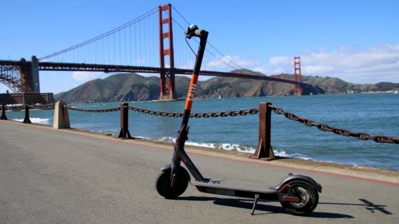 Elektrikli scooter ile banka soygunu!