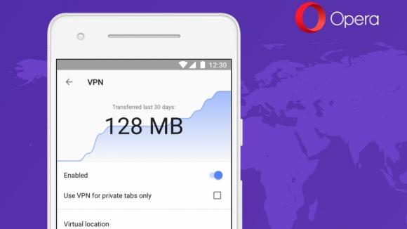 Opera VPN özelliğini Android tarayıcısına entegre etti!