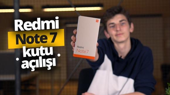 Redmi Note 7 kutusundan çıkıyor!