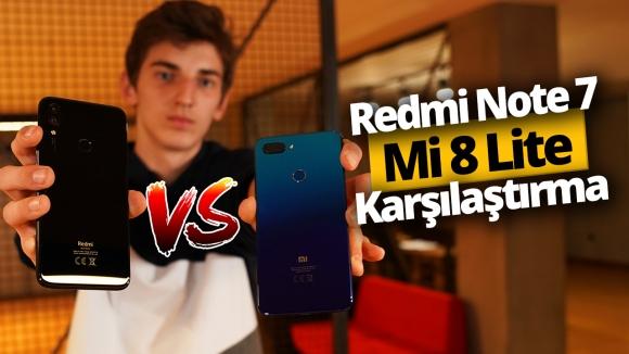 Redmi Note 7 ve Mi 8 Lite karşı karşıya! (Video)