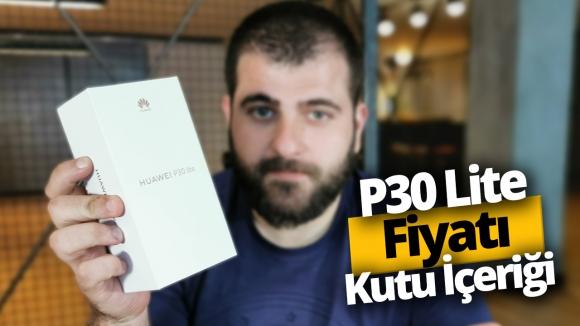Huawei P30 lite kutusundan çıkıyor