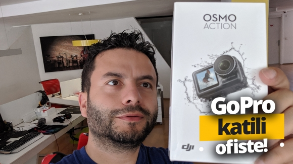 GoPro katili ofise geldi! DJI Osmo Action kutu açılışı