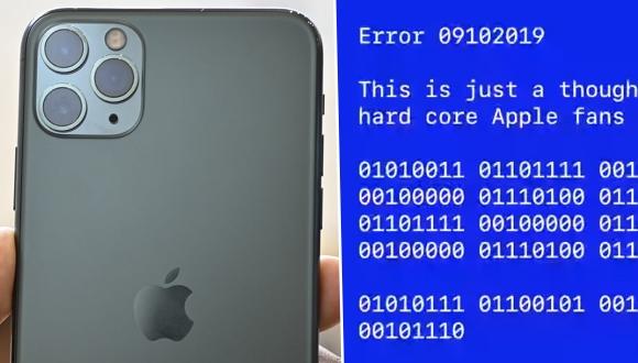 Apple'dan mavi ekranlı gizli mesaj!
