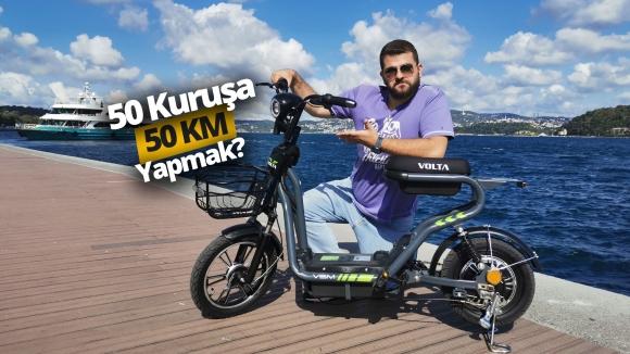 BİM'de satılacak olan elektrikli bisiklet ile gezdik!