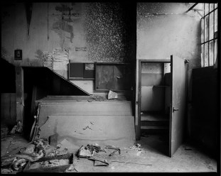 Abandoned factory in Prato (from an 8x10 negative)