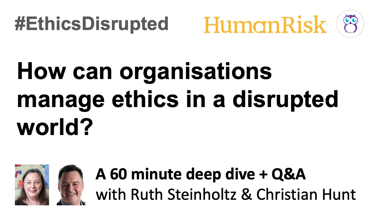 #EthicsDisrupted postproduction slide
