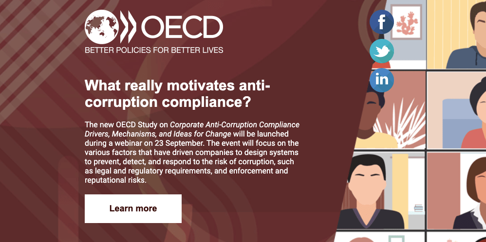 OECD Webinar - what really motivates anti-corruption compliance