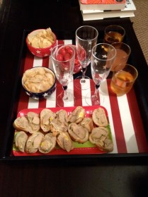 Foie gras and potato chips... and champagne, duh
