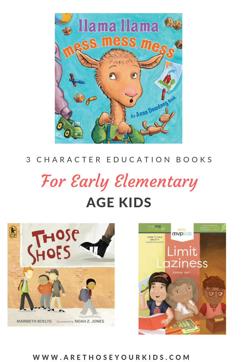 3 Character Education Books for Early Elementary Kids