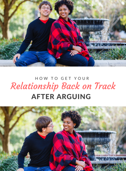 Getting your marriage relationship back on track after arguing means being willing to address the good and frustrating parts of your marriage.