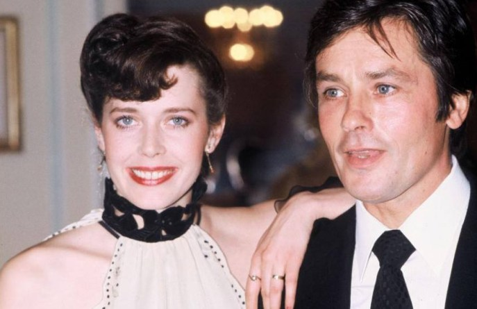 Sylvia Kristel and Alain Delon