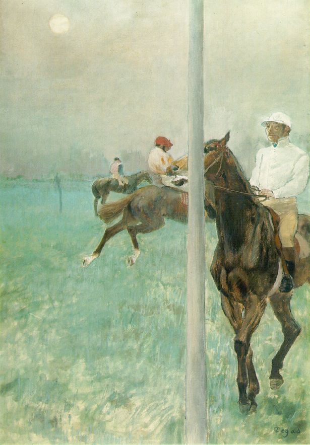 Jockeys Before the Race by Edgar Degas