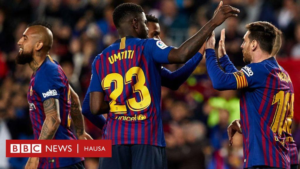 Yan wasan Barcelona 20 da za su fafata da Lyon - AREWA ng