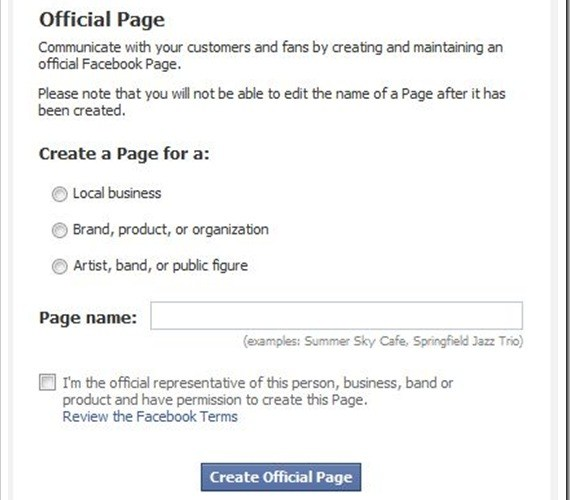 How to title your Facebook Business Page