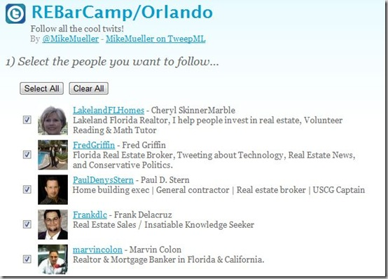 Follow all the Twits from REBarCamp/Orlando