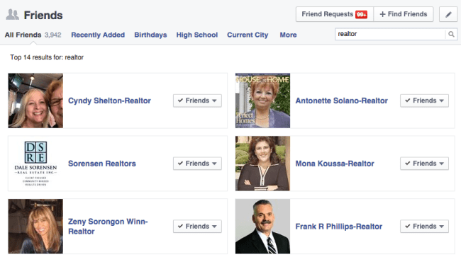 added Realtor to your name on Facebook?