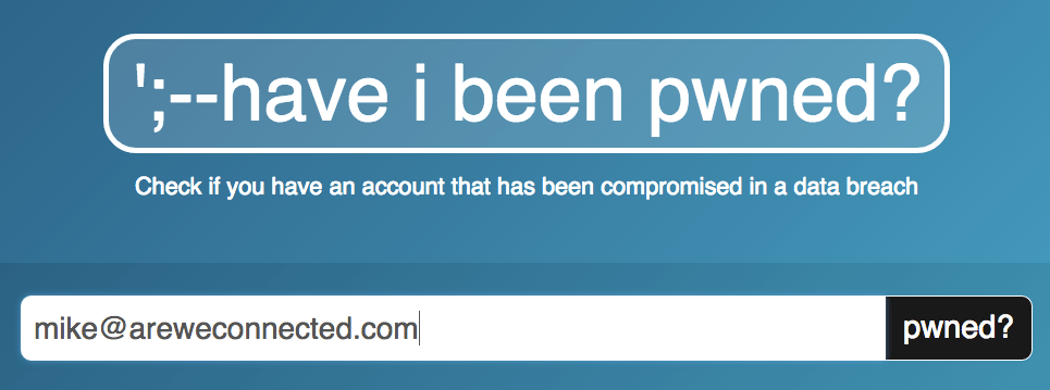 Have I been Pwned website
