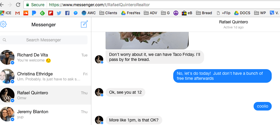 Facebook's Desktop Messenger