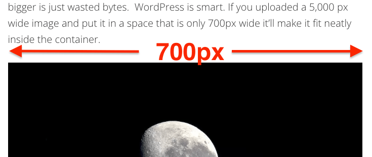 My content area is 700px wide