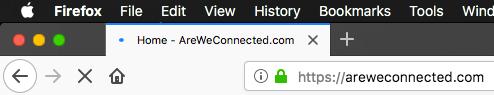 Secure website in Firefox
