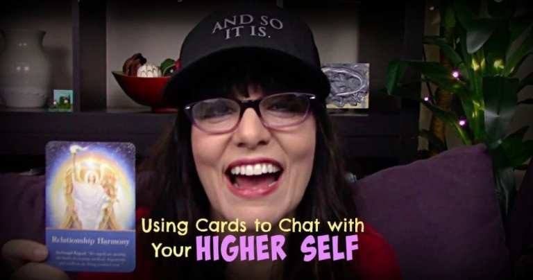Using cards to chat with your Higher Self. Video by Kimberly Darwin, Are You Awakening.