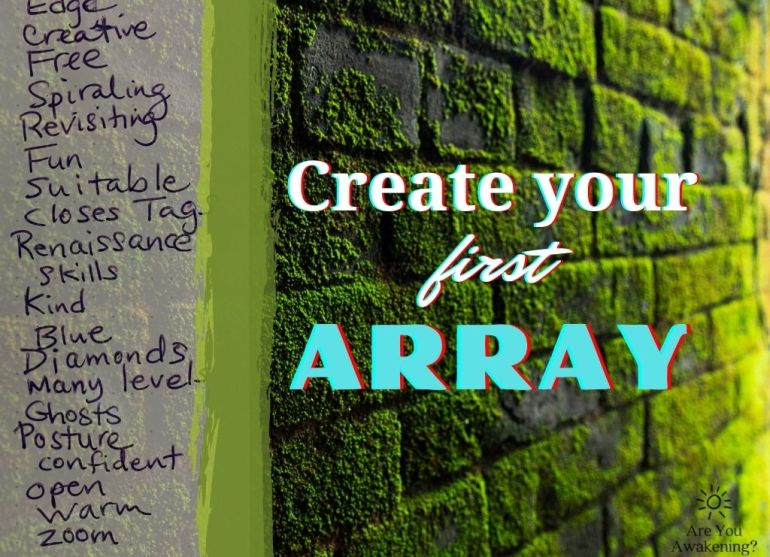 create your first array